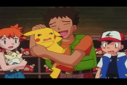 brock_hugging_pikachu_while_ash_misty_togepi_watch_in_pokemon