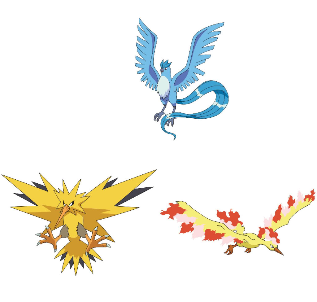 Articuno, Zapdos and Moltres codes are being sent out to ...
