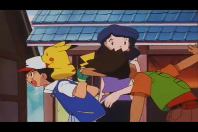 ash_pulling_brocks_ear_in_pokemon