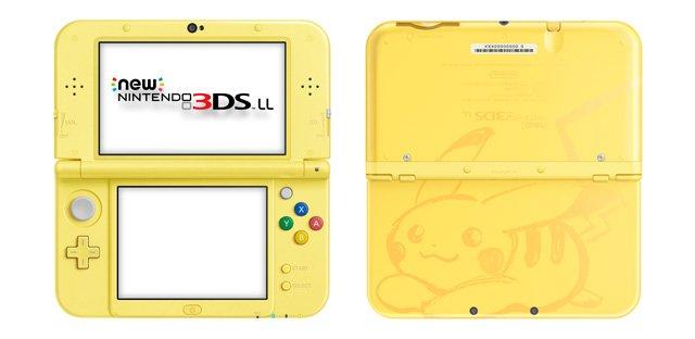 Pikachu yellow edition new nintendo 3ds xl system.