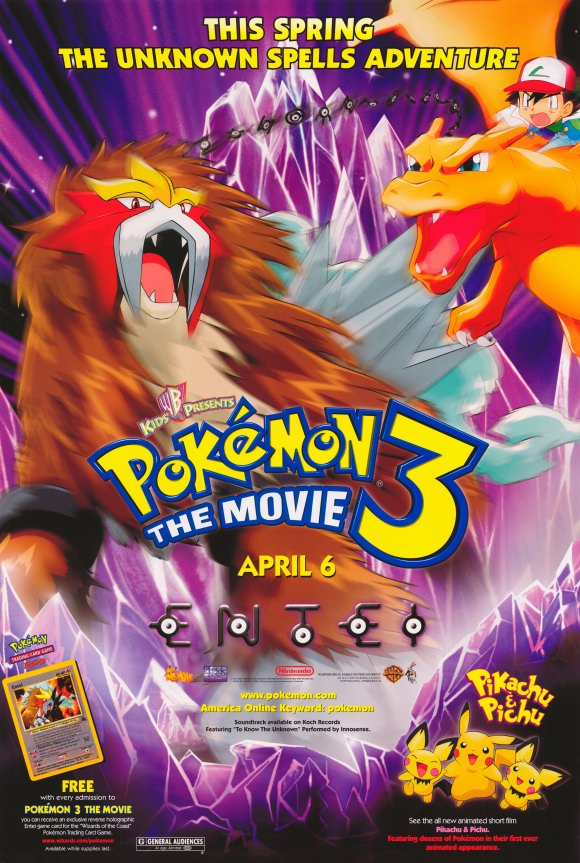 Video Watch The Official Trailer For Pokemon 3 The Movie