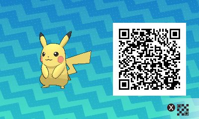 Pokemon Sun And Moon Qr Scanner Codes For Pikachu And Shiny Pikachu