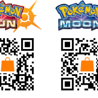 QR codes to download the full versions of Pokemon Sun and Moon