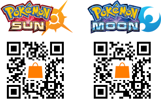 QR codes to download the full versions of Pokemon Sun and