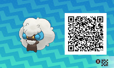 pokemon sun and moon qr scanner codes for whimsicott and shiny