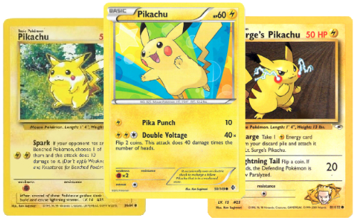 Pikachu S Pokémon Tcg Illustrations Through Time Pokémon Blog