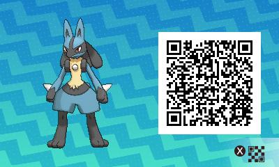 pokémon sun and moon qr scanner codes for riolu and lucario