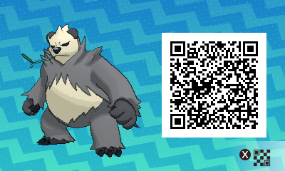 pokémon sun and moon qr scanner codes for pancham pangoro and