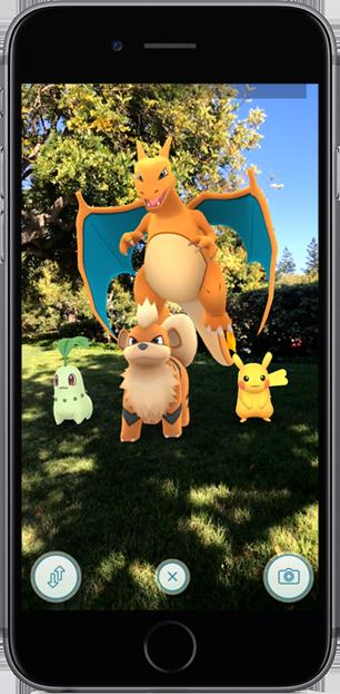 Pokémon GO AR Playground mode via Apple's ARKit tech demo