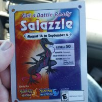 Salazzle code cards now available to Pokémon Sun and Moon players in Australia until September 4