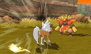 pokemon_ultra_sun_and_ultra_moon_first_battle_screenshot_of_dusk_form_lycanroc_vs_magmortar