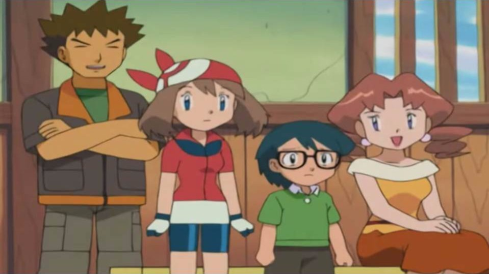 Brock, May, Max and Caroline all watch Ash's battle ...