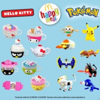 New Pokémon Sun and Moon Happy Meal toys now available at McDonald's in Spain