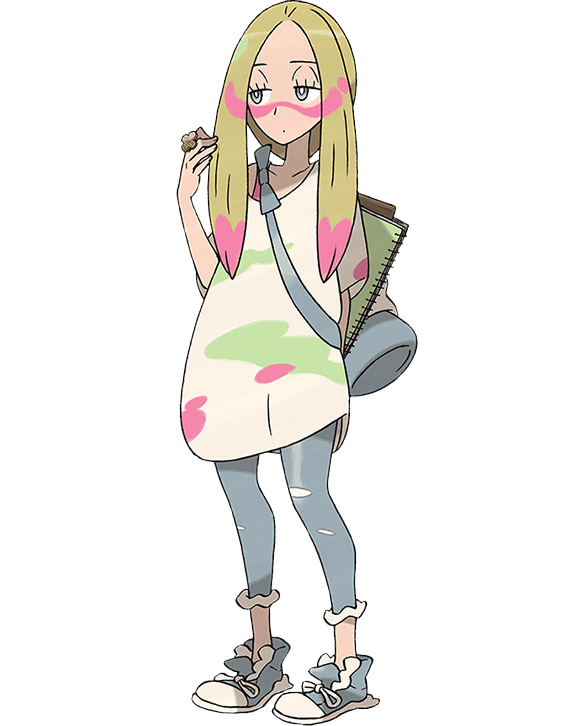 official artwork and details for new trial captain mina in pokémon