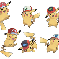 Ash Hat Pikachu distributions announced for Pokémon Sun and Moon, featuring Kanto, Johto, Hoenn, Sinnoh, Unova, Kalos and Alola