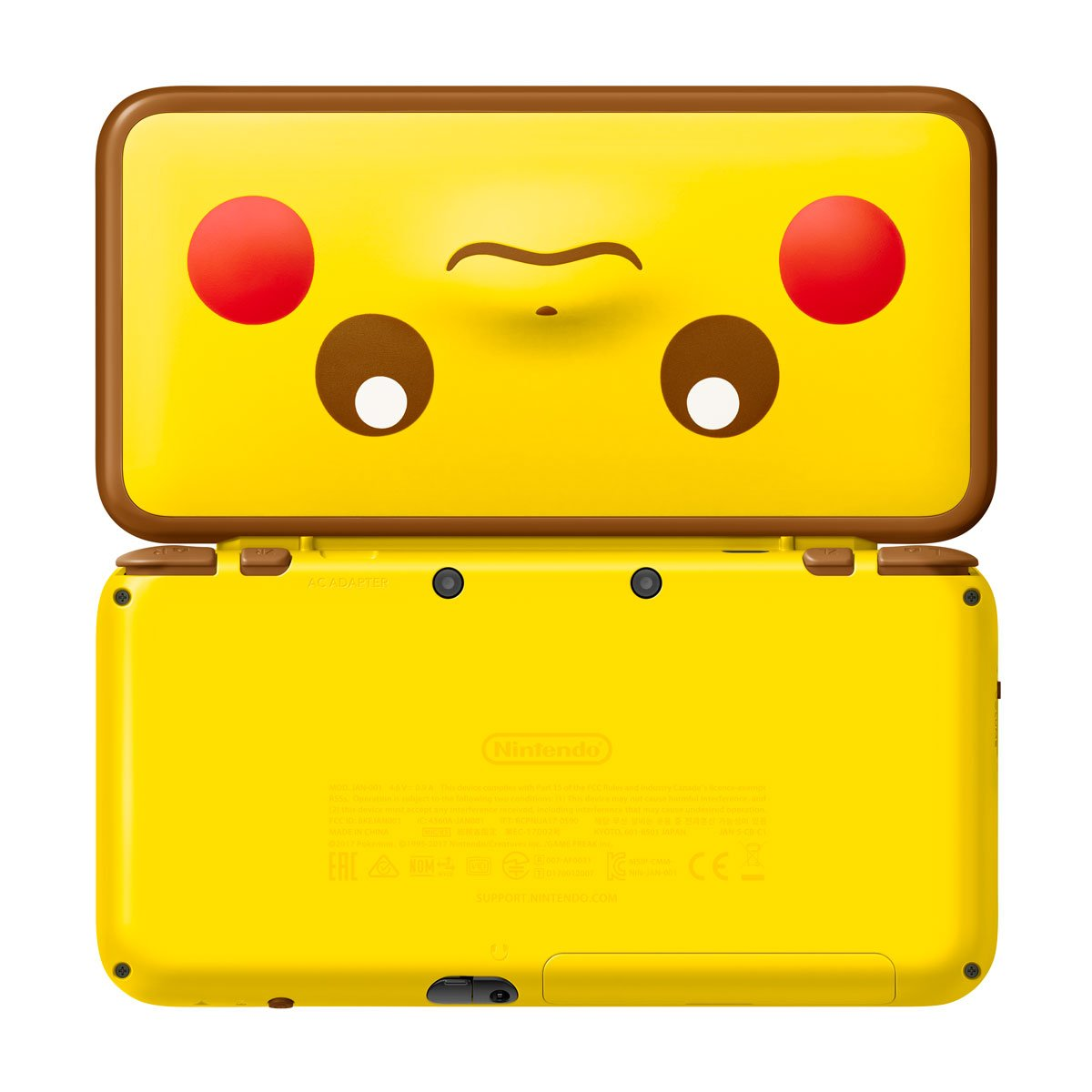 official pictures of the pikachu edition new nintendo 2ds. Black Bedroom Furniture Sets. Home Design Ideas