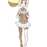 Official artwork and character profiles for Hau and Lillie in Pokémon Ultra Sun and Ultra Moon