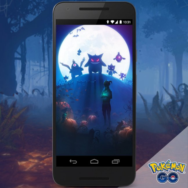 a brand new loading screen from developer niantic is now available for your viewing pleasure the halloween themed artwork depicts a pokmon