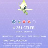 New Mythical Pokémon Celebi now available for the first time as Special Research reward at Pokémon GO Fest 2018 in Chicago, Illinois