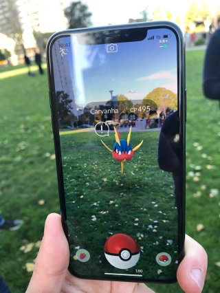 first_pokemon_go_screenshot_of_wild_carvanha_with_arplus_mode_and_low_awareness