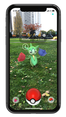 pokemon_go_arplus_screenshot_of_encountering_roselia_with_low_awareness_iphone_x