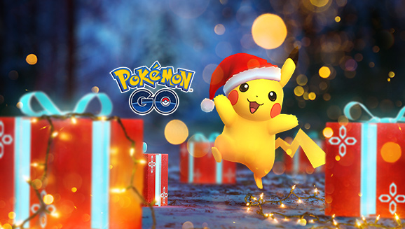 pok mon go holiday 2017 event kicks off today with festive pikachu new hoenn pok mon and more. Black Bedroom Furniture Sets. Home Design Ideas