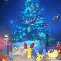 New Pokémon GO loading screen for winter 2017 features large Christmas tree, new Hoenn Pokémon, Mudkip, Kirlia, female trainer and more