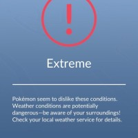 New Extreme Weather warning screen now pops up in Pokémon GO