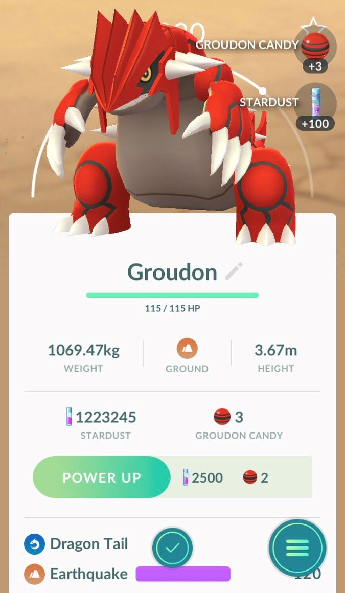 First Pok 233 Mon Go Screenshots Of Successfully Caught Groudon Pok 233 Mon Blog