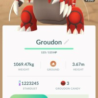 First Pokémon GO screenshots of successfully-caught Groudon