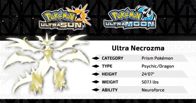 Official Details And Artwork For Ultra Necrozma In Pok 233 Mon Ultra Sun And Ultra Moon Pok 233 Mon Blog