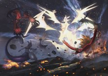 pokemon_ultra_sun_and_ultra_moon_artwork_of_ultra_necrozma_confrontation_with_legendaries_mewtwo_yveltal_xerneas_ho_oh_and_rayquaza