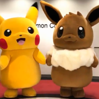 Adorable videos: Official Pikachu and Eevee Pokémon mascots face off in 11 different outdoor activities