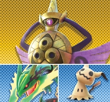 official_pokken_tournament_dx_battle_pack_dlc_artwork_for_wave_one_featuring_Aegislash_mega_rayquaza_and_mimikyu