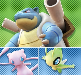 official_pokken_tournament_dx_battle_pack_dlc_artwork_for_wave_two_featuring_blastoise_mew_and_celebi