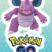 Official artwork for special Pokémon GO Raid Battle featuring Giovanni's powerful Nidoking