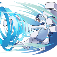 Official artwork for special level-100 Wind Lugia distribution from Pokémon the Movie: Everyone's Story