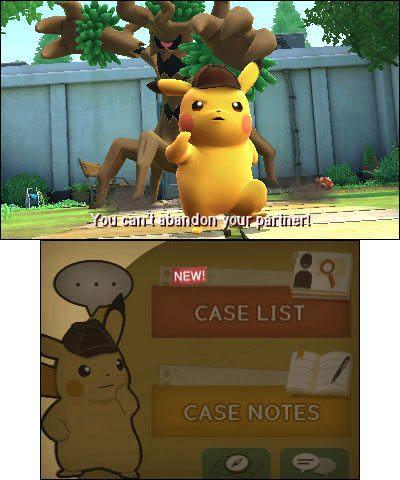 New Detective Pikachu Screenshots Showcase Dual Screen Gameplay On