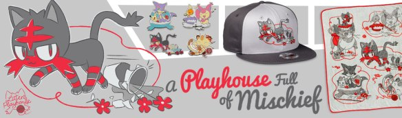 d2880b3e New Litten's Playhouse Collection line features apparel, pins, fleece throw  and more at the Pokémon Center