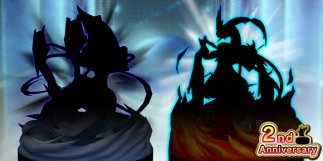 pokemon_duel_second_anniversary_figures_black_Kyurem_and_white_Kyurem_silhouettes