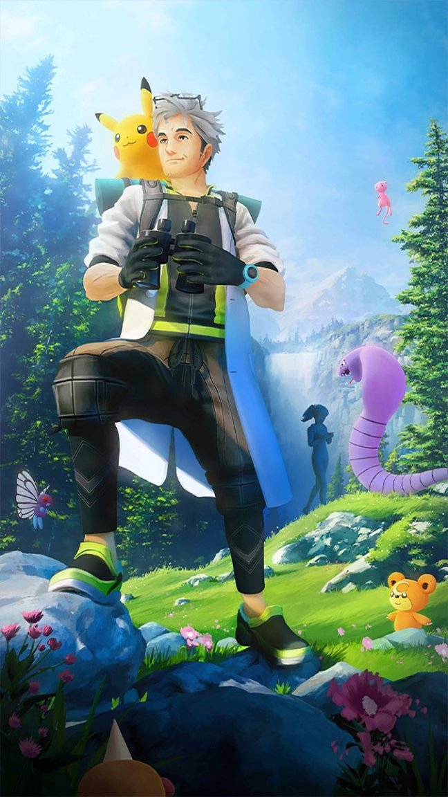 New Pok 233 Mon Go Loading Screen Features Professor Willow Mew Pikachu Arbok Butterfree