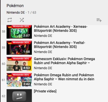 Pokemon Private Videos