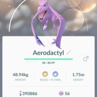 Pokémon GO screenshots of new Shiny Pokémon Shiny Aerodactyl, Shiny Kabuto and Shiny Omanyte