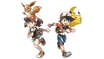 Official main Trainers artwork for Pokémon: Let's Go, Pikachu! and Pokémon: Let's Go, Eevee! on Nintendo Switch