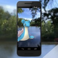 Official Pokémon GO AR screenshot of Lapras for Water Festival 2018