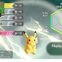 Pikachu learns Double Kick at Level 9 in Pokémon Let's Go Pikachu and Let's Go Eevee