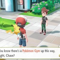 Your rival is named Trace in Pokémon Let's Go Pikachu and Let's Go Eevee on Nintendo Switch