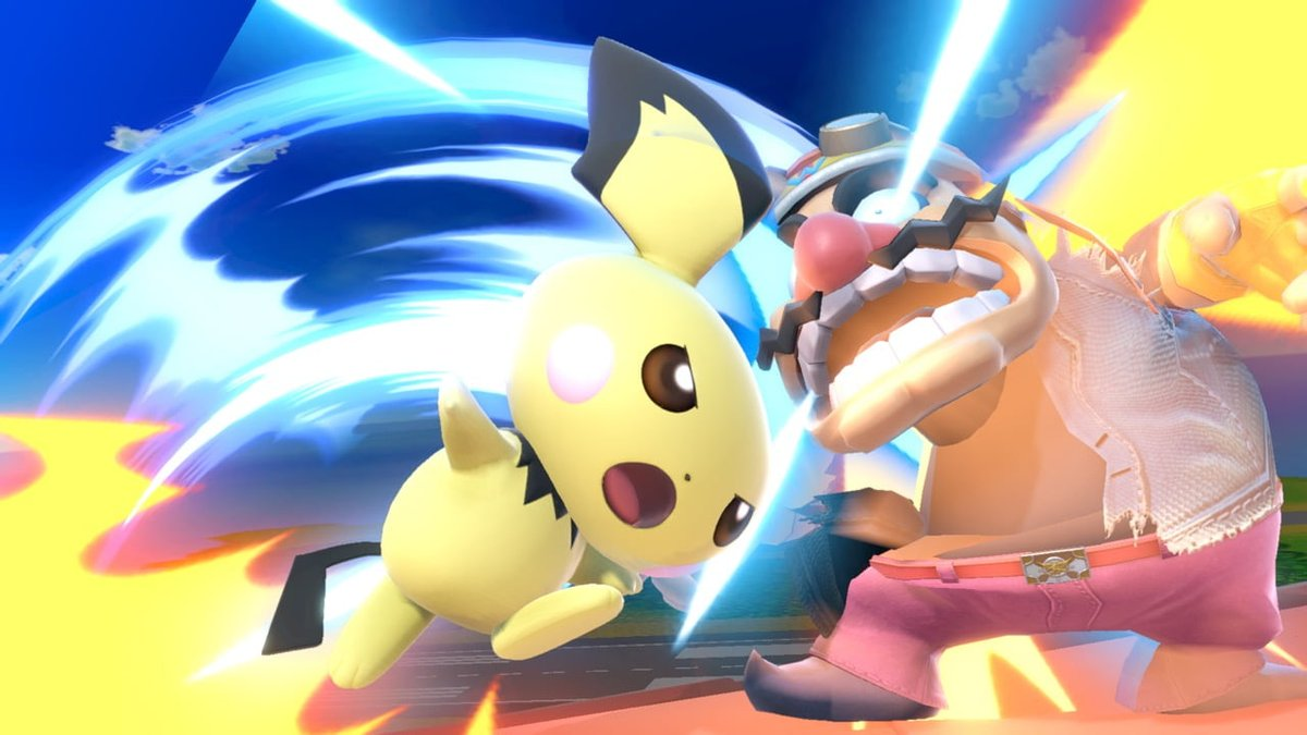Official screenshots of Pikachu, Pichu, female Pikachu, cosplay Pikachu and  Pikachu Libre in Super Smash Bros. Ultimate for Nintendo Switch