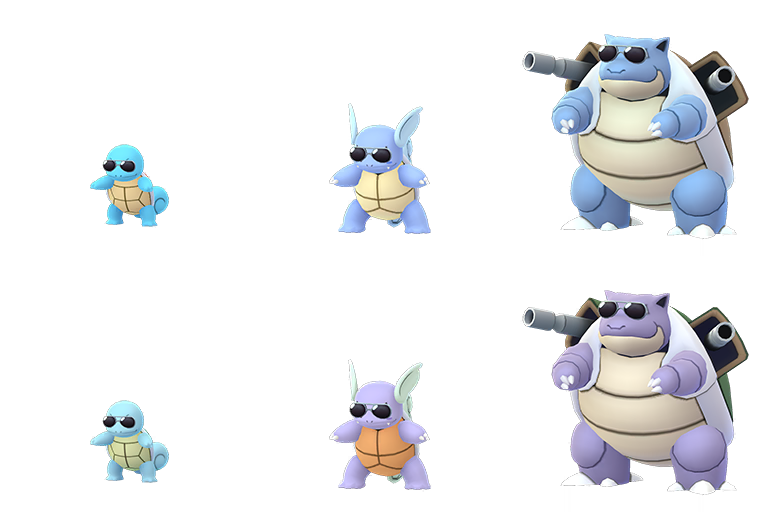 Sunglasses Wearing Shiny Squirtle Shiny Wartortle And Shiny Blastoise Now Available In Pokemon Go Pokemon Blog Squirtle's shell is not merely used for protection. sunglasses wearing shiny squirtle