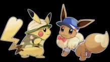 pokemon_lets_go_pikachu_and_lets_go_eevee_artwork_for_female_pikachu_and_eevee_dressed_up_in_costumes